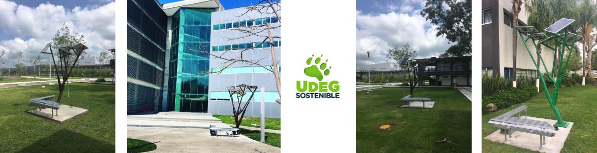 Árboles solares para carga de dispositivos móviles en Centros Universitarios