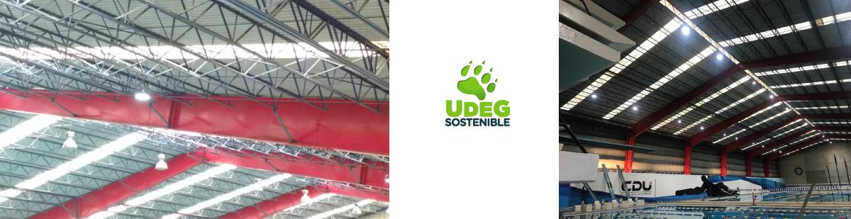 Sustitución de luminarias con tecnología LED en el la alberca olímpica de la Unidad Administrativa de Las Instalaciones Deportivas del Tecnológico adscrita a la CGSU