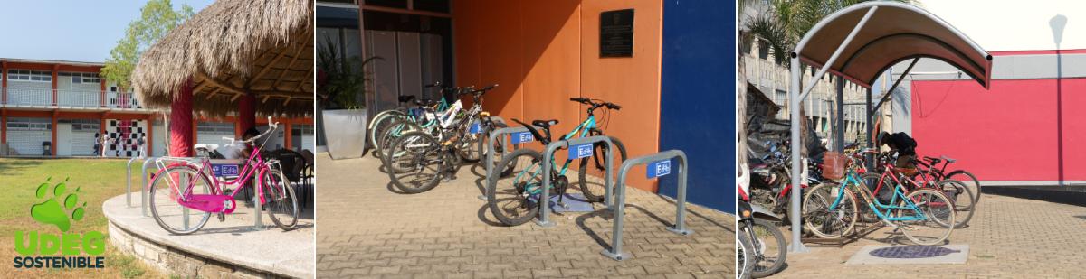Ciclopuertos en instalaciones universitarias